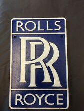 Rolls Royce cast iron Sign