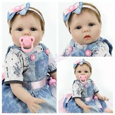 Reborn Baby Dolls 22inch Handmade Newborn Lifelike Vinyl Silicone Baby Girl Doll