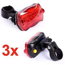 3X Bicycle Rear Safety Flashlight Taillight Warning Lamp 5 LED Rear Light @UP
