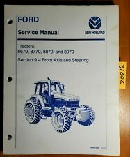 Ford New Holland 8670 8770 8870 8970 Tractor Front Axle Sec 9 Service Manual '94
