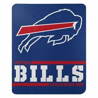 "New Buffalo Bills NFL Split Wide Fleece Throw Blanket Large Size 50""x60"""