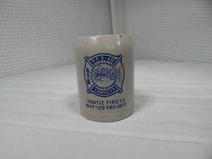 Vintage! Very Rare! Yantic Fire Co.Yantic CT.1847-1972 Ceramic Mug 125 Years!