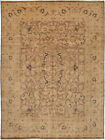"""Vintage Hand-Knotted Carpet 8'10"""" x 11'10"""" Traditional Geometric Wool Area Rug"""