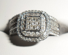 Sparkling Genuine 1ct Diamond Bridal Rings Ring set 14K White Gold Michael Hill