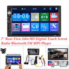 7inch Rear View Double Din HD Digital Touch Screen Radio Bluetooth FM MP5 Player
