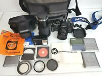 Chinon CG-5 35mm SLR Film Camera, 50mm 1:1.9 Lens with Lots of Accessories