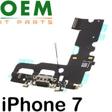 For iPhone 7 Charging Port Flex Cable Dock Connector Microphone Black New