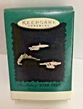 Hallmark Star Trek Chrismas Ornament Ships Of Star Trek Set Of 3 Ornaments H6