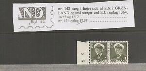 GREENLAND - FR.IX 1 øre. Used.  Variant. See item description.