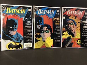 Batman #426,427,428 (Full A Death In The Family Story) 1988 ~8.5-9.2~ (RC)