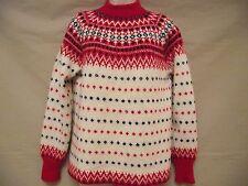 Paul Mage Vtg Danish Nordic Ski Sweater 100% Wool Sz L