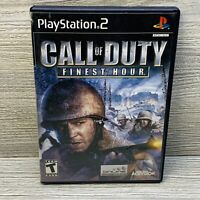 Call of Duty Finest Hour Playstation 2 PS2 Black Label Complete! Free Shipping
