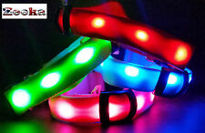 "BRIGHT LED Flashing  LIGHT UP reflective Safety Dog Collar SPOT-"" UK SUPPLIER"""