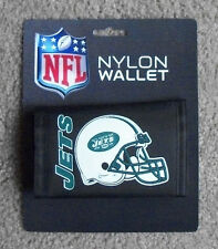 New York Jets Football Licensed NFL Billfold  Wallet Black Nylon Trifold