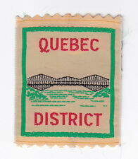 SCOUTS OF CANADA -  CANADIAN SCOUT QUEBEC DISTRICT Patch