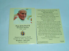 6- BLESSED POPE JOHN PAUL II Holy Cards New Rememberance of Beatification