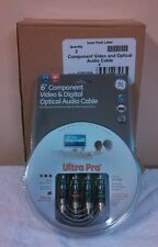 2 Brand GE Ultra Pro 6 FT Component Video and Digital Optical Audio Cable