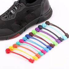 1PC Shoelaces Women/Man No Tie Locking Round Elastic Shoelace Sneakers Shoe Lace