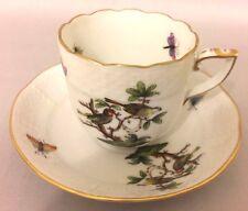 Rothschild Bird (RO) by Herend Chocolate Demitasse Cup & Saucer Set 709