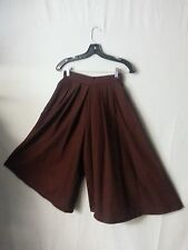 VTG 80s Ashley Brooke Women Cullottes Wide Leg Pants Skirt Pocket Petite P to S