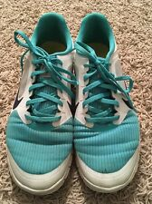 Womens Nike Free 4.0 V3 Teal W/ Black Swoosh Running Shoes, Size 11
