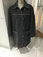 Ladies Grey Duffle Style Wool Jacket Coat by BHS UK Size 18 Excel. Condition