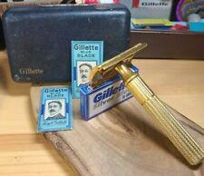 1938-45 Gillette gold Tech Fat handle vintage safety razor