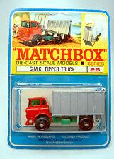 Matchbox 26C GMC Tipper Truck auf rarer canadischer Blisterkarte