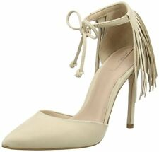 3872f12ce57 Women s Aldo Venosta Beige Heeled Fringe Lace up Pump Size UK 6 eu 39