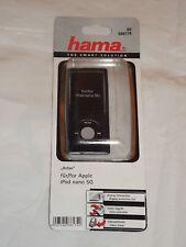 """00086174 Hama """"astao"""" mp3 Custodia per iPod Nano 5g, NERO + STAND + PELLICOLA"""