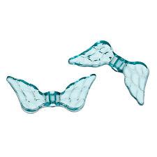 Lot 10 perle intercalaire Aile d'ange Acrylique Couleur Vert 20mm x 9mm