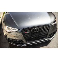 Pour Audi A5 B8 & S5 2012-16 Calandre Grille Noir Plein Brillant Nid Abeille RS5