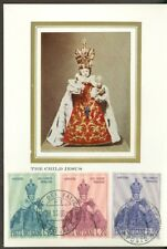 Vatican City Sc#464-6: Christmas 1968 Issue on Maxi Card