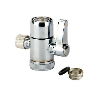 Faucet Adapter Diverter Valve Counter Top Water Filter 3/8 Inch Connector M22X24