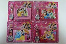 1 pcs Princess Belle Ariel Kids Girls Filler Wallet Purse Coins Bag and Watch