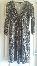 EXCELLENT CONDITION GREAT PLAINS BLACK SPOTTED PRINT DRESS SIZE SMALL