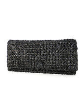 Shimmery Black Clutch  Recycled Video Tape Glittering Cocktail