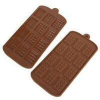 12Grid Chocolate Candy Sugar Mould Bar Block Ice Tray Silicone Cake Bake Moldle
