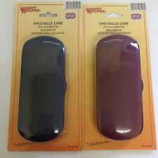 1 X SPECTACLE CASE COLOURS BLACK BLUE OR BURGANDY