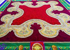 GIANNI VERSACE velvet fabric panel Leopard & Medusa print red green blue