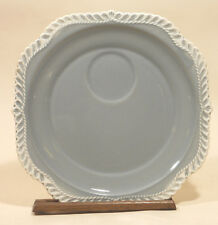 "2 HARKER WARE POTTERY CHESTERTON GRAY GREY 8 1/4"" SNACK PLATE PLATES"