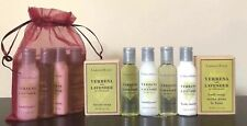 CRABTREE & EVELYN Shampoo Conditioner Lotion Body Wash Soaps 6pc GIFT SET w/BAG