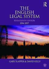 The English Legal System by Gary Slapper, David Kelly (Paperback, 2016)