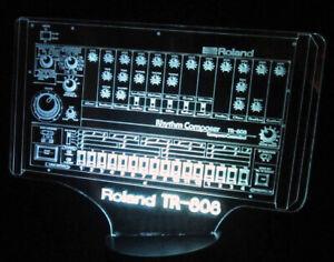 ROLAND TR 808 LED Lampe, 7 Farben mit persönlicher Gravur+Fernbedienung