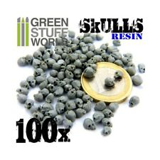 Green Stuff World Calaveras de Resina Set de 100 Miniaturas para Decoracion de Dioramas (GSWD39)