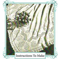 Vintage knitting pattern-how to make a shetland lace baby christening shawl