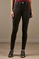 Versona Pants BLACK Slimming Skinny 14 Womens Mid Rise NEW