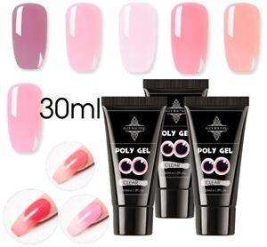 30ml Poly Gel Builder Set Quick UV LED Gel Nail Extension Kits Polygel UK