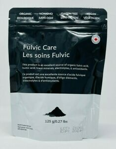 BLACK OXYGEN ORGANICS Pure Loose Fulvic/Humic Acid Care Powder 125g Pouch NEW