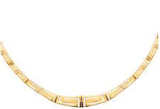 14 K Yellow Gold Greek Key Set of Bracelet, Necklace and Earring